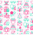 event services seamless pattern vector image vector image