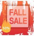 fall autumn sale banner in frame vector image