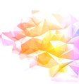 Geometric abstract colorful low poly background vector image vector image
