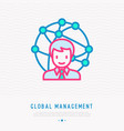 global management manager directs offices vector image