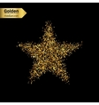 Gold glitter icon of star isolated on vector image