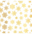 golden snowflakes seamless repeat pattern vector image vector image