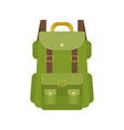 green camping backpack vector image vector image