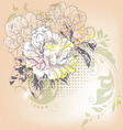 hand drawn a single flower vector image vector image