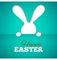happy easter card with hiding bunny and font on vector image vector image