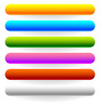 horizontal banner button templates in 6 colors vector image vector image