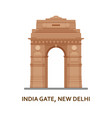 india gate new delhi indian most famous sight vector image