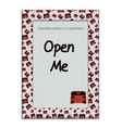 Invitation postcard Open Me Box from Wonderland vector image vector image