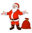jolly plump Santa Claus vector image vector image