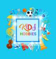 kids hobbies art classes logo workshop creative