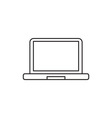Laptop icon outline vector image