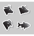 meat animals icons