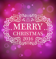 Merry Christmas 2016 vector image vector image