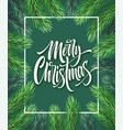 merry christmas hand drawn lettering in vector image