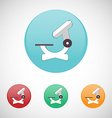 Microscope icon set vector image vector image