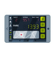 modern taximeter device calculating equipment vector image vector image