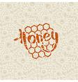 Natural honey seamless pattern and emblem vector image vector image