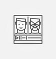 online deepfakes video outline concept icon vector image