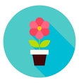 Plant in Flower Pot Circle Icon vector image vector image