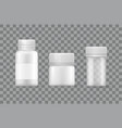 plastic silver bottles covers designed for liquids vector image vector image