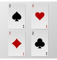 playing cards aces vector image