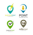 point logo set logo vector image