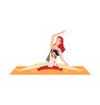 postnatal yoga mom and bascene flat vector image vector image