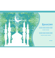 Ramadan background - mosque silhouette card vector image vector image