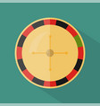 roulette icon set of great flat icons with style vector image