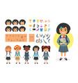 school girl character generator vector image vector image