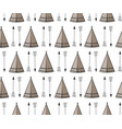 seamless kids pattern with wigwam and arrows cute vector image