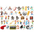 set of music element vector image vector image