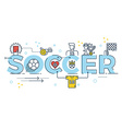 Soccer word lettering vector image