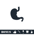 stomach icon flat vector image vector image