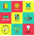 summer activity set flat logos vector image