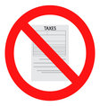 Tax ban icon flat vector image