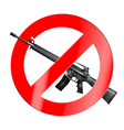 the sign of the ban there is no war vector image vector image
