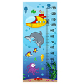 underwater height measure vector image vector image