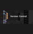 version control programming computer server coding vector image vector image