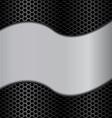 wave metal texture vector image vector image
