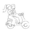 wedding couple design vector image vector image