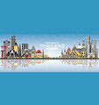 welcome to thailand city skyline with color vector image vector image
