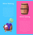 wine making and saving manual vector image vector image