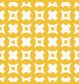 yellow geometric seamless pattern with crosses vector image