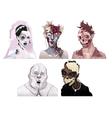 zombie portraits vector image vector image