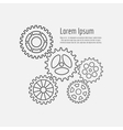 Line gears icons combination background vector image