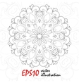 antistress coloring book with geometric vector image vector image