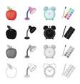 apple table lamp clock alarm clock school vector image