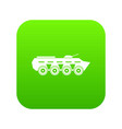 army battle tank icon digital green vector image vector image