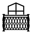 balcony icon simple style vector image vector image